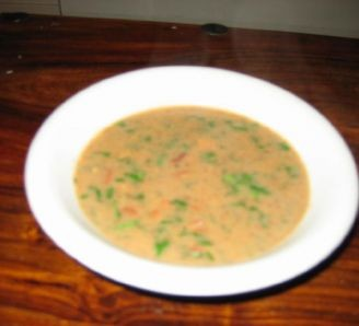 Cheats chicken and bean soup