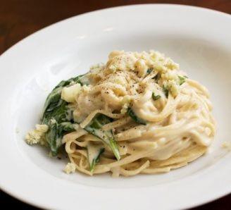 Creamy Linguine & Spinach