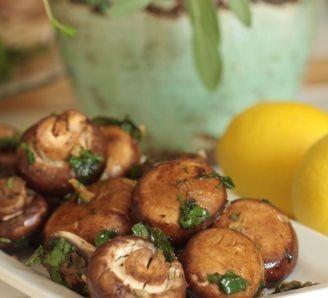 Sherry and Garlic Mushrooms