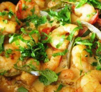 Bipins prawn coconut curry