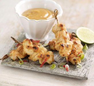 Mini Satay Chicken Skewers