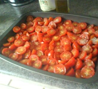 Sweet roasted cherry tomatoes