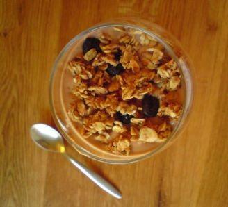 Chocolate Yogurt and Granola