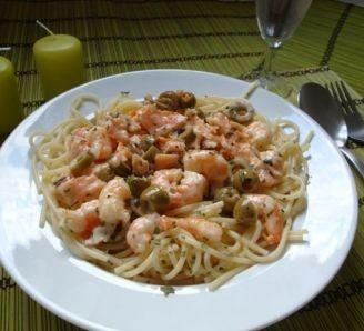 Creamy fragrant seafood pasta