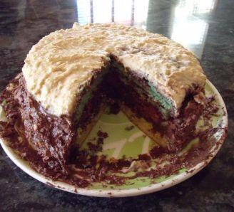 Triple Chocolate Colour Cake
