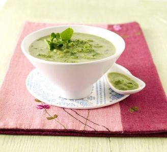 Fresh Pea and Watercress Soup