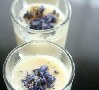 Almond  violet dessert