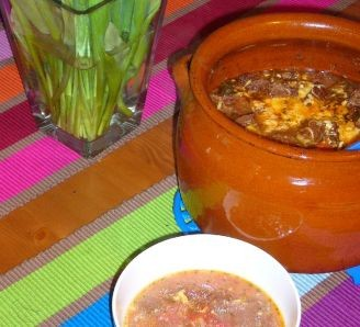 Tomato soup with blue cheese