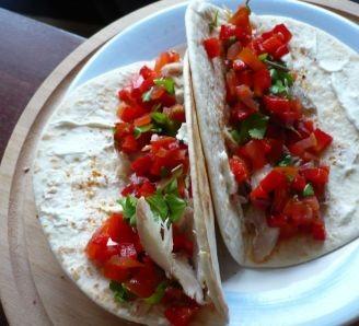 Smoked mackerel taco's