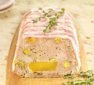 Pork and nectarine terrine