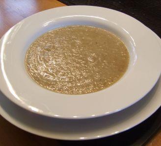 Artichoke and mushroom soup