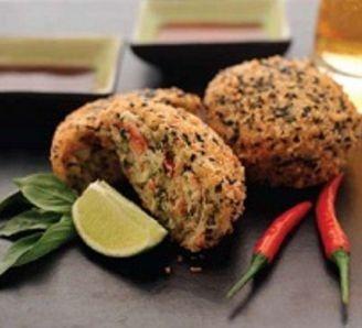 Sesame Crisp Thai Crab Cakes