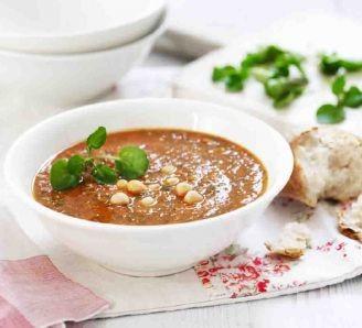 Watercress TomatoChickpea Soup