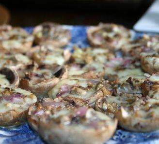 Cheese and Ham mushrooms
