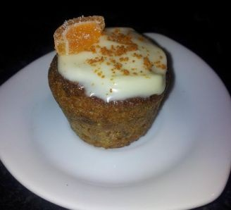 Winter carrot cupcakes