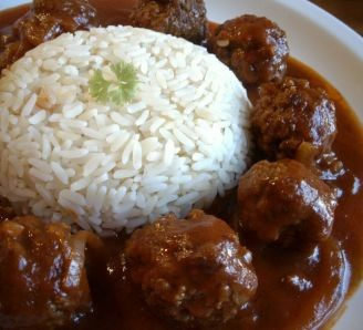 Dahud basa - meatballs