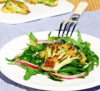 Crispy fried broccoli salad