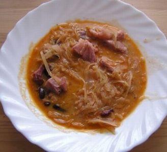 Cabbage bean soup