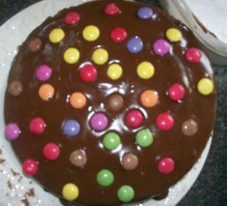 yummy chocolate smartie cake