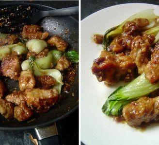 Braised Pork with Bok Choy