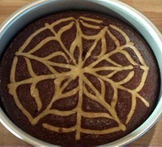 Halloween Cobweb Brownies
