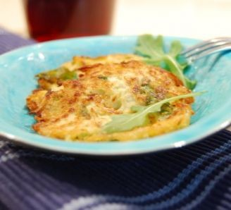 Rocket and Courgette pancakes