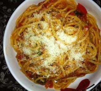 Tomato and Spinach Spaghetti